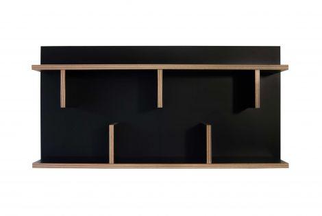 Basler Wandgestell - schwarz/multiplex