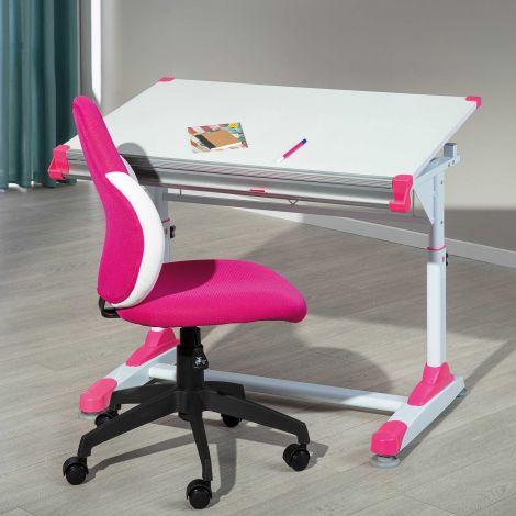 Schreibtisch Tamara Grün/Rosa