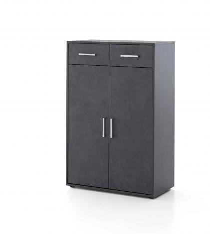 Maxi-Büroschrank 2 Türen und 2 Schubladen - graphit