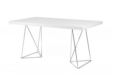Multis-Tisch - weiß/verchromt