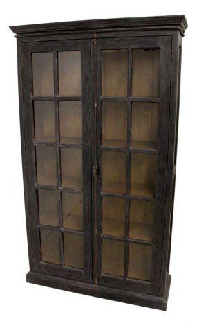 Vitrine Durham - getragen schwarz / vintage