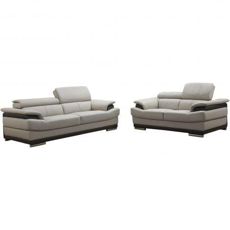 Sofa Link aus Leder
