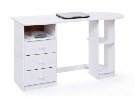 Computertisch Touchround - weiß