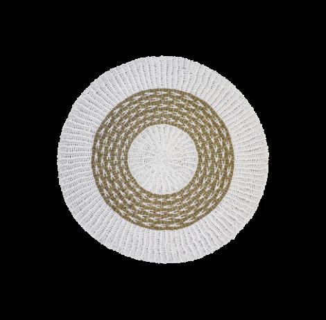 Teppich Malibu 150cm Bast/Meeresgras natur/weiß