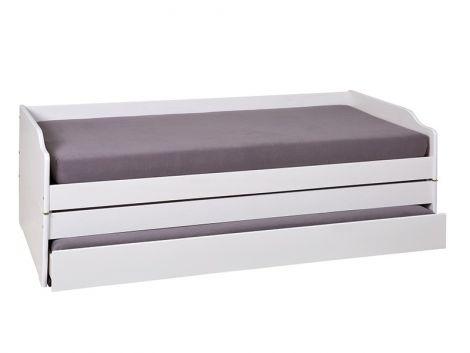 Kabinenbett Lothar 90x200 cm - weiße Waschung