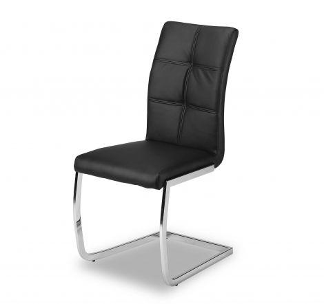 Set mit 2 Stühlen Eva - schwarz