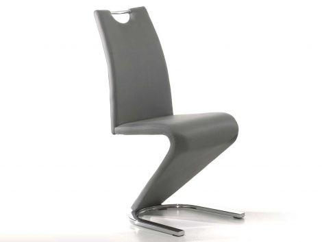 Set mit 2 Stühlen Lineo - grau