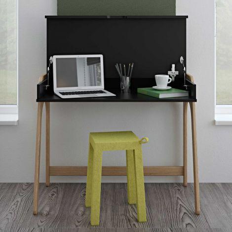 Schreibtisch Aura 94cm - schwarz/eiche